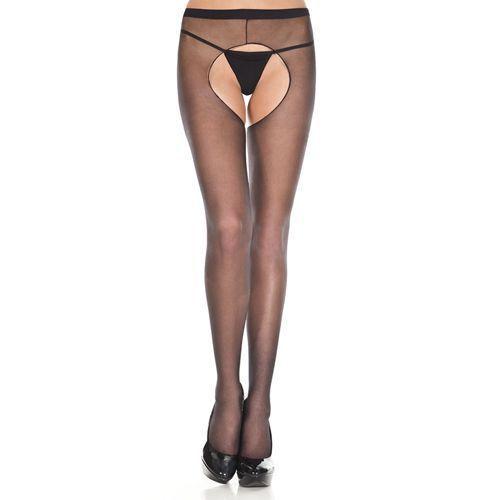 Image of Basic panty Met Open Kruis - Zwart